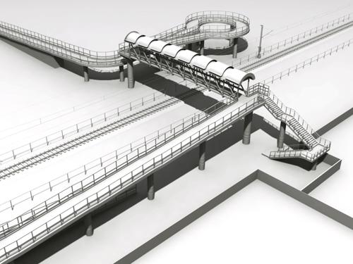 custom pedestrian bridges poitra visual photosimulations north metro corridor at rocky
