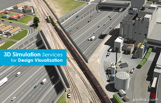 3D Visualization and Animation for the ongoing I-70 East EIS Project in Denver, CO (CDOT) depicting the SDEIS Preliminarily Identified Alternative or Partial Cover Lowered Highway Alternative, including the cover park near Swansea Elementary. Stills and Animations of Union Pacific Railroad over I-70 are shown here.