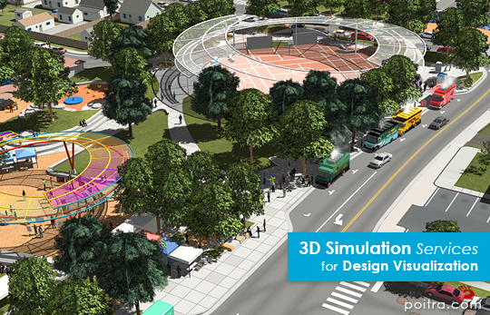 3D Visualization and Animation for the ongoing I-70 East EIS Project in Denver, CO (CDOT) depicting the SDEIS Preliminarily Identified Alternative or Partial Cover Lowered Highway Alternative, including the cover park near Swansea Elementary. Stills and Animations of I-70 and the Swansea Partial Cover are shown here.