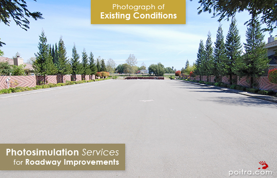 Photograph of Existing Conditions. Photo-realistic Design Visualization and Photosimulation Services for Roadway Improvements: I-5 and Otto Drive East, CalTrans, Stockton, CA