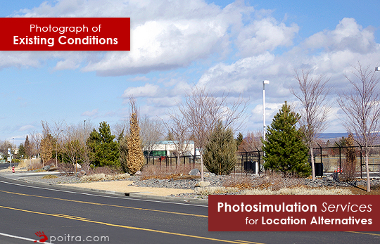 Photograph of Existing Conditions. Photograph of Existing Conditions. Photo-realistic Design Visualization and Photosimulation Services for Location Alternatives: Reno/Tahoe 7 on Corporate Blvd South, FAA, Reno, NV