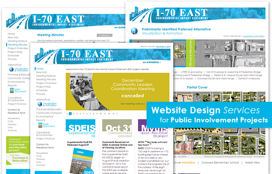 Website Design and Maintenance Services for Public Involvement Projects!