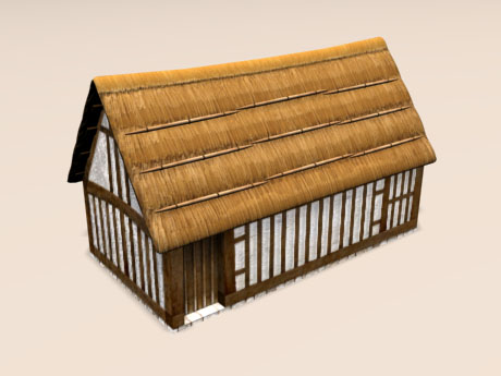 POITRA Visual 3d Model Catalogue - 3D Model Cottage - 14th Century